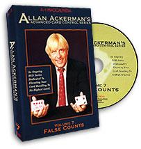 Advanced Card Control Series Vol 7: False Counts by Allan Ackerman - DVD