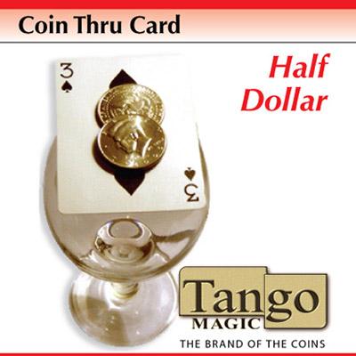 *Coin Thru Card Half Dollar (D0016) Tango