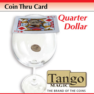 *Coin Thru Card Quarter Dollar (D0017) Tango