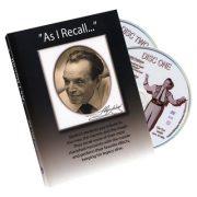 As I Recall (2 DVD Set) - Tony Slydini