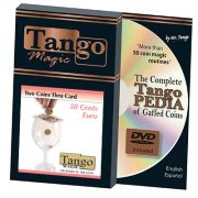 *Two Coins Thru Card (E0016) (50 cent Euro) by Tango – Trick