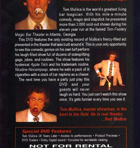 An Evening At The Tom-Foolery by Tom Mullica - DVD
