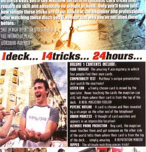 1 Deck 14 Tricks 24 Hours Volume 1 by Matthew J. Dowden & RSVP - DVD