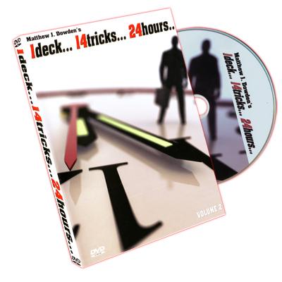 1 Deck 14 Tricks 24 Hours Volume 2 by Matthew J. Dowden & RSVP - DVD