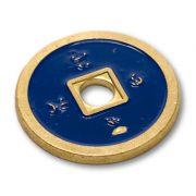 *Normal Chinese Coin made in Brass (Blue) by Tango -Trick (CH009)