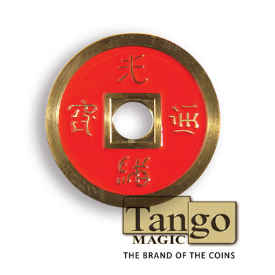 *Normal Chinese Coin made in Brass (Red) by Tango -Trick (CH011)