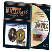 *Expanded Shell Chinese Coin made in Brass (Yellow) by Tango – Trick (CH006)