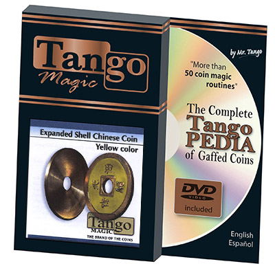 *Expanded Shell Chinese Coin made in Brass (Yellow) by Tango - Trick (CH006)
