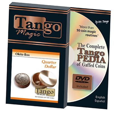*Okito Box (Brass) - US Quarter by Tango Magic -Trick (B0010)