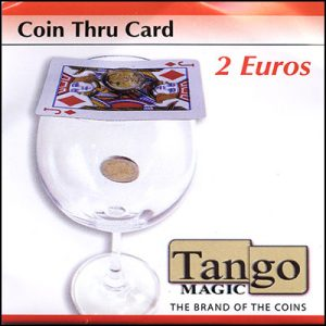 *Coin thru Card 2 Euro by Tango - Trick (E0015)