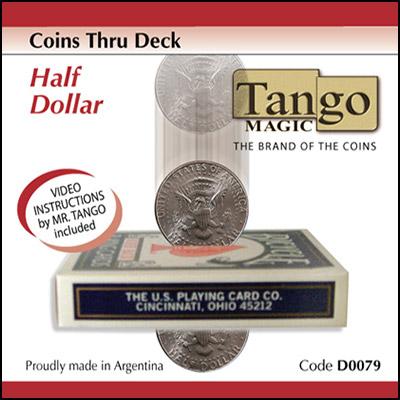 *Coins Thru Deck Half Dollar by Tango - Trick (D0079)