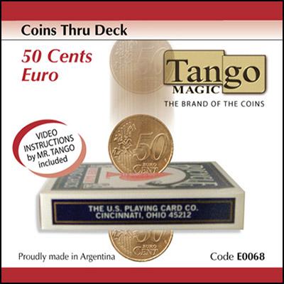 *Coins thru Deck 50 cent Euro by Tango - Trick (E0068)
