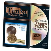 Expanded Shell Coin – 20 Cent Euro by Tango Magic – Trick (E0006)