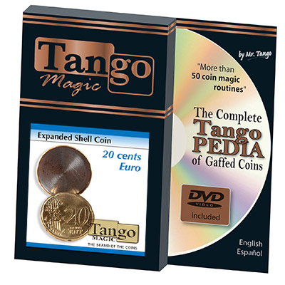 Expanded Shell Coin - 20 Cent Euro by Tango Magic - Trick (E0006)