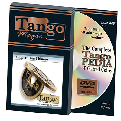 *Flipper Chinese Coin Black (CH012) by Tango - Trick