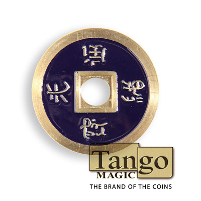 *Normal Chinese Coin made in Brass (Dark Purple) by Tango-Trick (CH014)