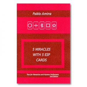 5 Miracles with ESP Cards by Pablo Amira and Titanas - Book