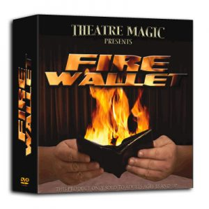 Fire Wallet (DVD and Gimmick) by Theatre Magic - Trick