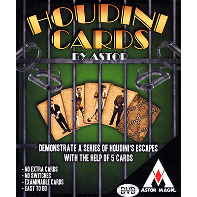 Houdini Cards (DVD included) by Astor Magic - DVD