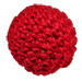 """1"""" Crochet Ball Non Magnetic (Red) by Ickle Pickle Products, Inc. - Trick-37782"""