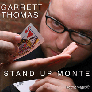 Standup Monte (Jumbo Index) DVD and Gimmick by Garrett Thomas and Kozmomagic -DVD-37800