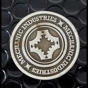 Half Dollar Coin Gun Metal Grey by Mechanic Industries-39007